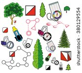 sports orienteering icons set... | Shutterstock .eps vector #380129554