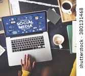 Small photo of Social Media Social Networking Technology Innovation Concept