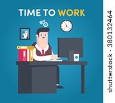 illustrations flat businessman...   Shutterstock .eps vector #380132464