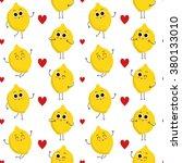 lemon  vector seamless pattern... | Shutterstock .eps vector #380133010