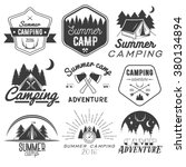 vector set of camping labels in ... | Shutterstock .eps vector #380134894