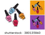 nail polish vector sketch in... | Shutterstock .eps vector #380135860