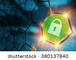 secure connection concept with...   Shutterstock . vector #380137840