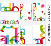 background with letters  a card ... | Shutterstock .eps vector #380137924