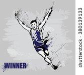 illustration of male runner ... | Shutterstock .eps vector #380139133