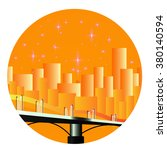 night town  flat  sand city  a...   Shutterstock .eps vector #380140594