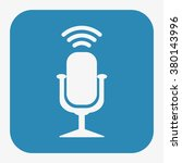 microphone icon | Shutterstock .eps vector #380143996
