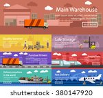 logistic and transportation... | Shutterstock .eps vector #380147920