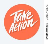 take action icon. | Shutterstock .eps vector #380149873