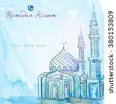 ramadan kareem greeting... | Shutterstock .eps vector #380153809