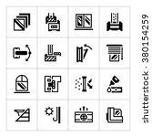 set icons of modern window | Shutterstock .eps vector #380154259