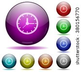 set of color clock glass sphere ...