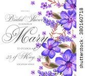 bridal shower invitation card   Shutterstock .eps vector #380160718