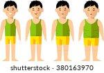 vector illustration fat and... | Shutterstock .eps vector #380163970