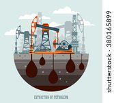 pump jack in the background of... | Shutterstock .eps vector #380165899