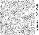 hand drawn strawberry ornament... | Shutterstock .eps vector #380168698