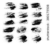 abstract black paint textured... | Shutterstock .eps vector #380175508