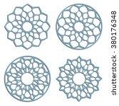 diy laser cutting patterns.... | Shutterstock .eps vector #380176348