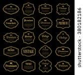 set of vintage gold  frame ....   Shutterstock .eps vector #380182186
