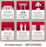 set of japan country ornament... | Shutterstock .eps vector #380183080