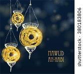 eid milad un nabi card. vector ... | Shutterstock .eps vector #380183806