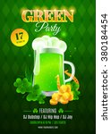 green party flyer. inviting... | Shutterstock .eps vector #380184454