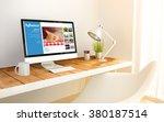 3d generated minimalist...   Shutterstock . vector #380187514
