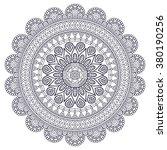mandala. vintage decorative...   Shutterstock .eps vector #380190256