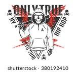 set of rap skull and hip hop...   Shutterstock .eps vector #380192410