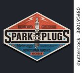 motorcycle plugs typography  t...   Shutterstock .eps vector #380195680