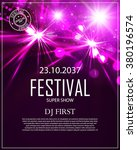 festival poster template with...   Shutterstock .eps vector #380196574