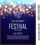 poster template with bokeh... | Shutterstock .eps vector #380196580