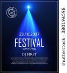 festival poster with spotlight. ... | Shutterstock .eps vector #380196598