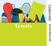 poster tennis. clothes and... | Shutterstock .eps vector #380198893