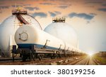 tanks with gas being... | Shutterstock . vector #380199256