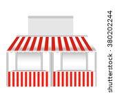 double stall   kiosk vector... | Shutterstock .eps vector #380202244