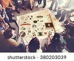 social media technology... | Shutterstock . vector #380203039