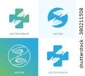 vector logo design templates in ... | Shutterstock .eps vector #380211508