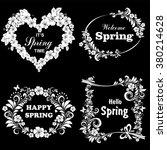 hello spring lettering... | Shutterstock .eps vector #380214628