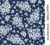 Vector Seamless Blue Cute...