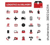 shipping  delivery  logistics ... | Shutterstock .eps vector #380216254