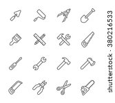 tools line icons | Shutterstock .eps vector #380216533