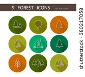 forest icons set vector. trees... | Shutterstock .eps vector #380217058