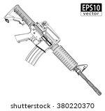 assault gun wireframe  side   ... | Shutterstock .eps vector #380220370