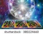 astrology symbols of zodiac... | Shutterstock . vector #380224660