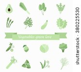 icon collection of herbs and... | Shutterstock .eps vector #380225530