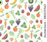 seamless pattern with fruit and ... | Shutterstock .eps vector #380225563