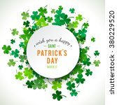 st patrick's day background.... | Shutterstock .eps vector #380229520