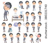 set of various poses of gray... | Shutterstock .eps vector #380231740
