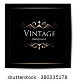 invitation vintage card | Shutterstock .eps vector #380235178